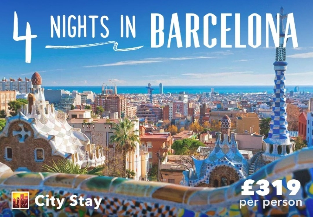 4 Nights City Stay Barcelona for £319pp