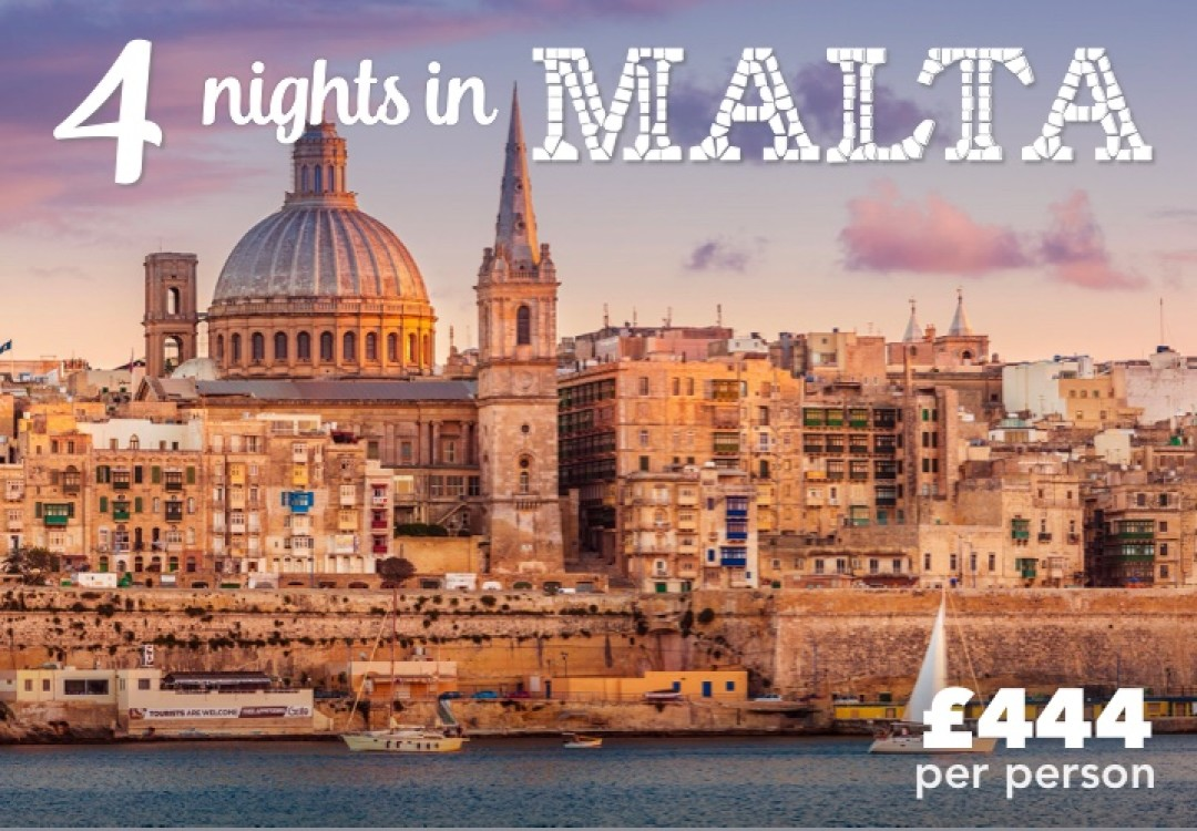 4 Nights Valletta for £444pp